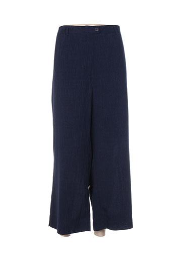 brigitte saget pantacourts femme de couleur bleu