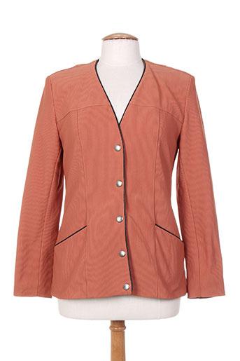 le yeti a paris vestes femme de couleur orange