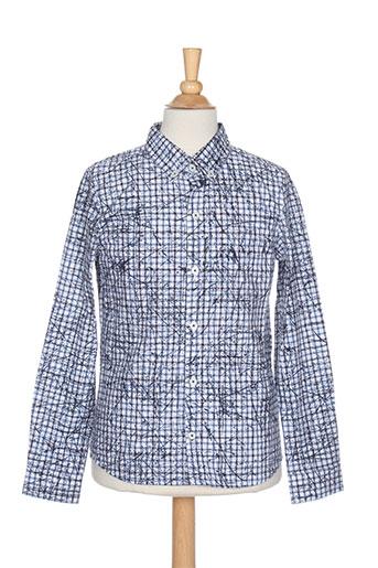 Chemise manches longues bleu JEAN BOURGET pour garçon