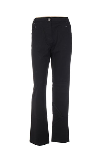 thalassa pantalons femme de couleur noir