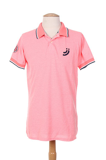 jn-joy t-shirts homme de couleur rose