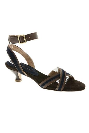 aura blanc chaussures femme de couleur bleu