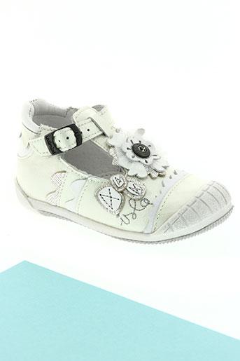 catimini chaussures fille de couleur blanc