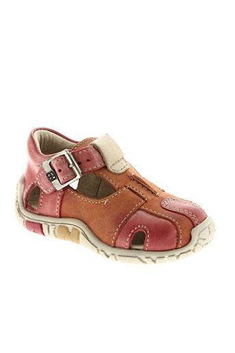 noël chaussures enfant de couleur orange