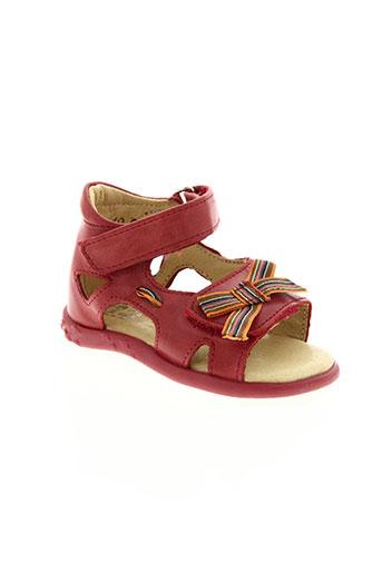 noël chaussures fille de couleur rouge
