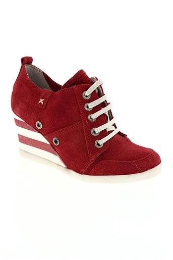 onky chaussures femme de couleur rouge