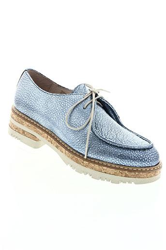 wonders chaussures femme de couleur bleu