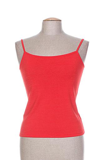 chacok chemises femme de couleur rouge
