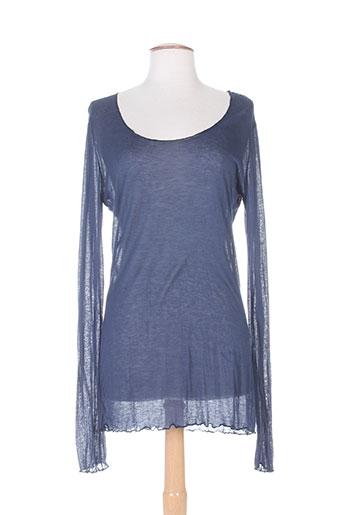 nana nucci chemises femme de couleur bleu