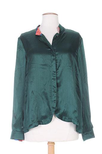 chacok chemises femme de couleur vert