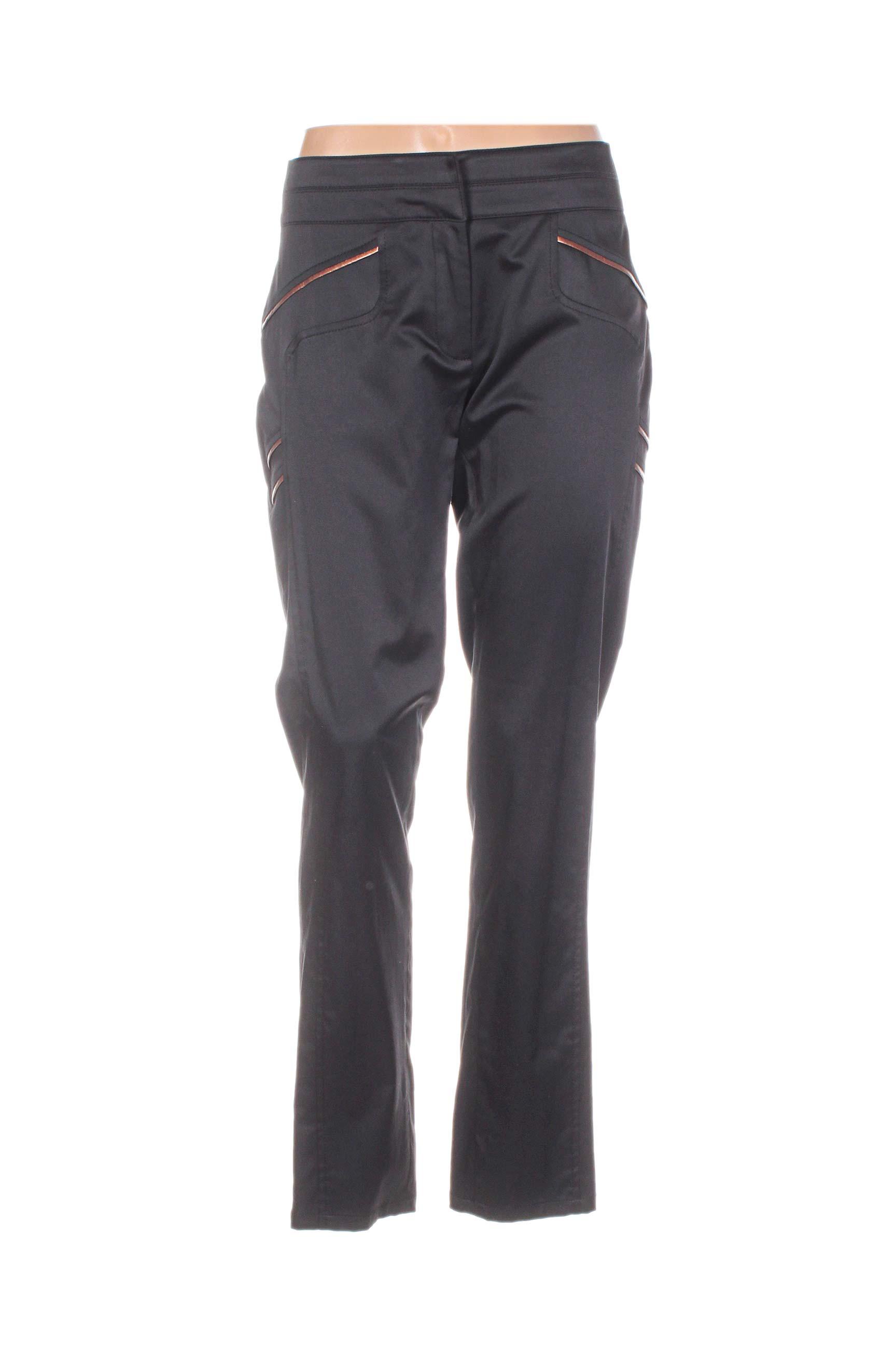 Bleu Blanc Rouge Pantalons Citadins Femme De Couleur Noir En Soldes Pas Cher 1093909-noir00