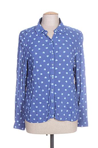thalassa chemises femme de couleur bleu