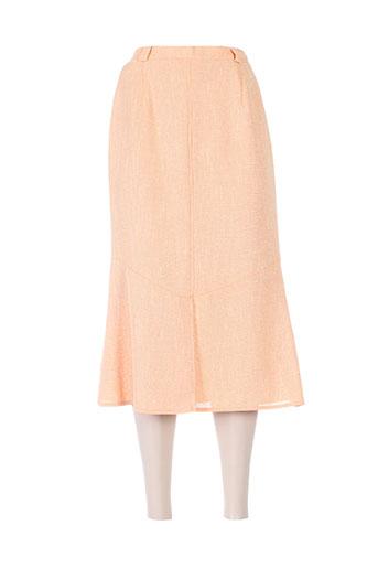Jupe mi-longue orange FRANK EDEN pour femme
