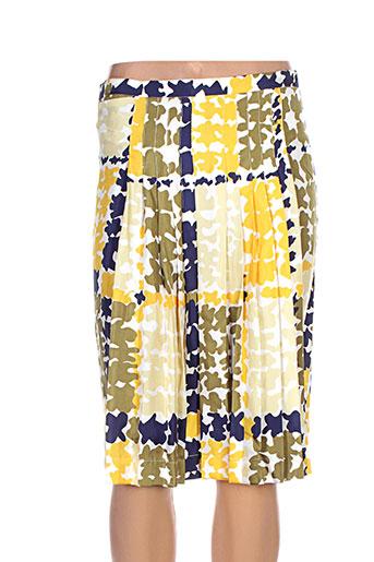 la prestic ouiston jupes femme de couleur jaune