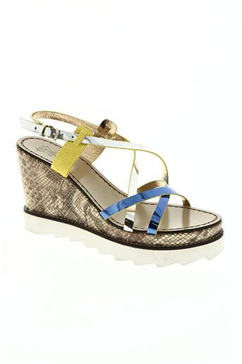 sanchita chaussures femme de couleur bleu