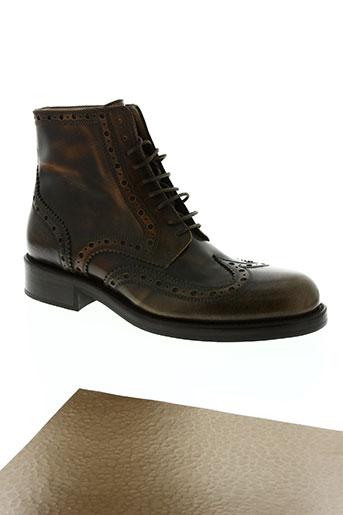 jean baptiste rautureau chaussures homme de couleur marron