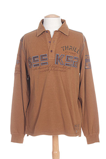 kitaro t-shirts homme de couleur marron
