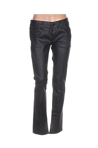 Pantalon casual noir CHEFDEVILLE pour femme