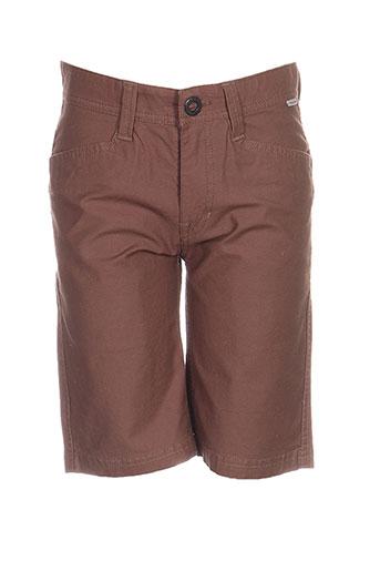 volcom shorts / bermudas garçon de couleur marron