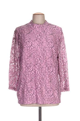 signature chemises femme de couleur rose