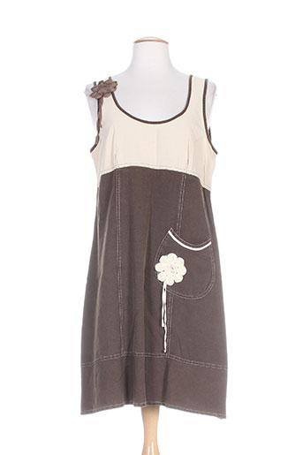 quattro robes femme de couleur marron