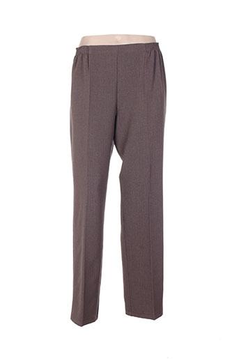 telmail pantalons femme de couleur marron