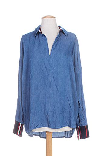 atelier jad chemises femme de couleur bleu