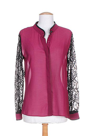 fracomina chemises femme de couleur violet