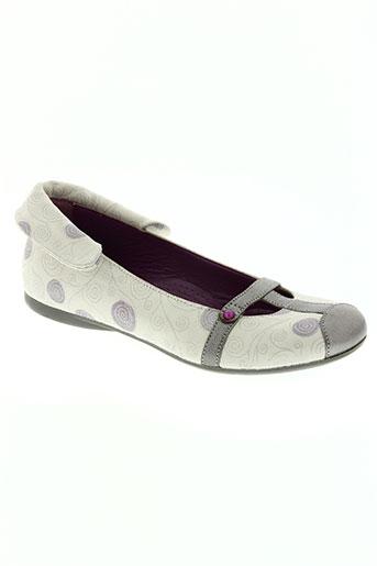 rondecuir chaussures fille de couleur blanc