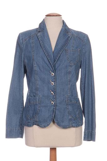 gelco vestes femme de couleur bleu