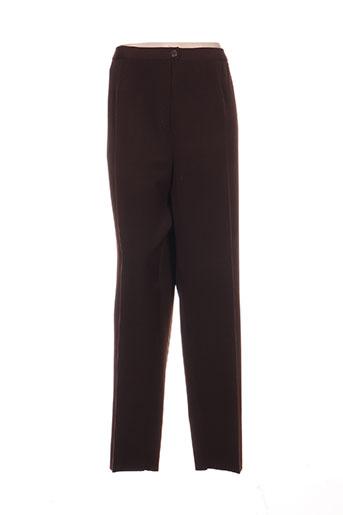 Pantalon chic marron KARTING pour femme