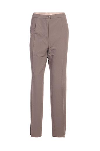 Pantalon casual beige KARTING pour femme