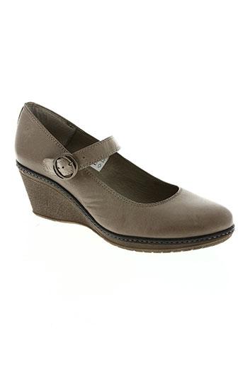 natureva chaussures femme de couleur marron