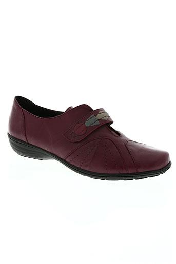 geo-reino chaussures femme de couleur rouge