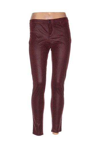 Pantalon casual rouge TEDDY SMITH pour femme