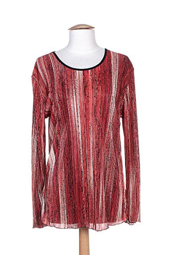 fafa mod chemises femme de couleur rouge