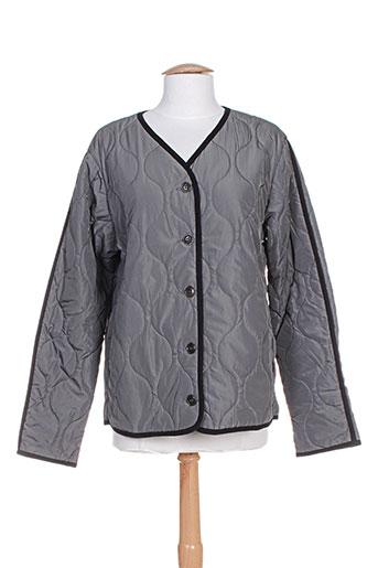noa noa manteaux femme de couleur gris