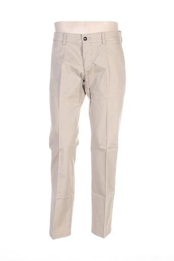 hattric pantalons homme de couleur beige