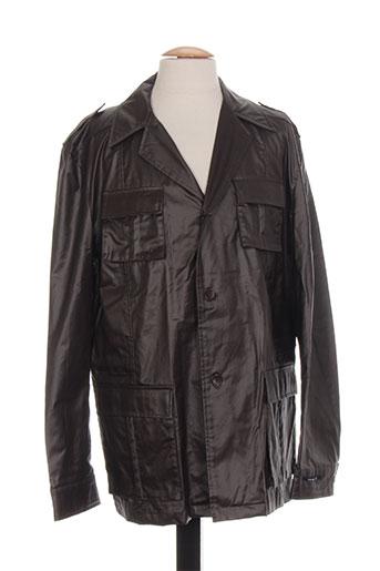 lucas delli manteaux homme de couleur marron