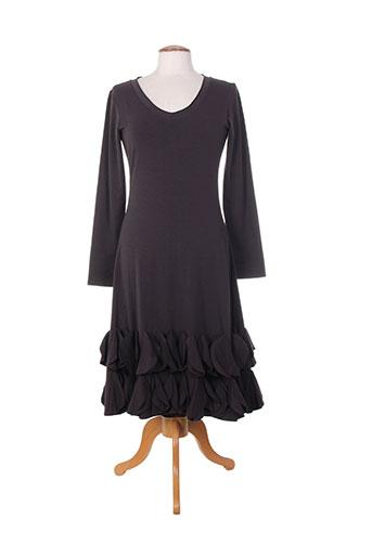 Robe mi-longue gris BORIS INDUSTRIES pour femme