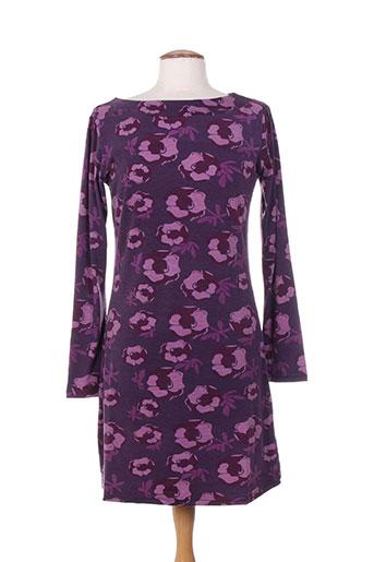 Robe mi-longue violet AMARI pour femme