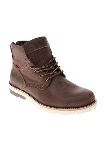 levis chaussures homme de couleur marron