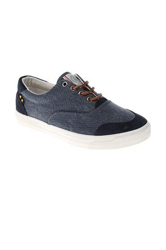 serge blanco chaussures homme de couleur bleu