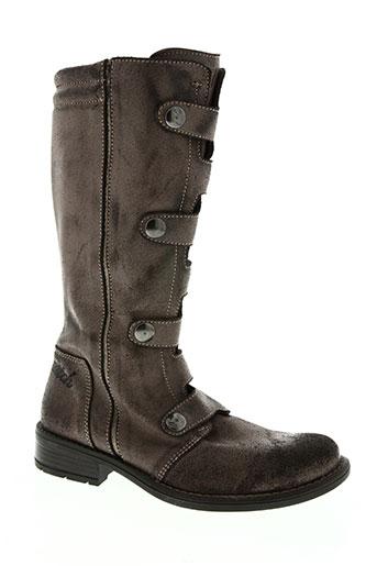 no scratch chaussures fille de couleur marron