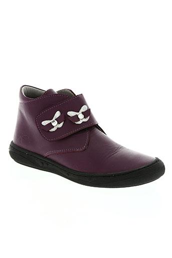 knepp chaussures fille de couleur violet