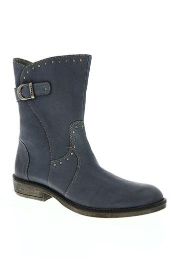 noël chaussures femme de couleur bleu