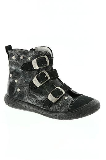 belamy chaussures fille de couleur gris
