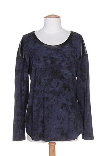 rose electron chemises femme de couleur bleu