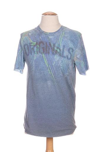 jack EFFI_CHAR_1 jones t-shirts homme de couleur bleu