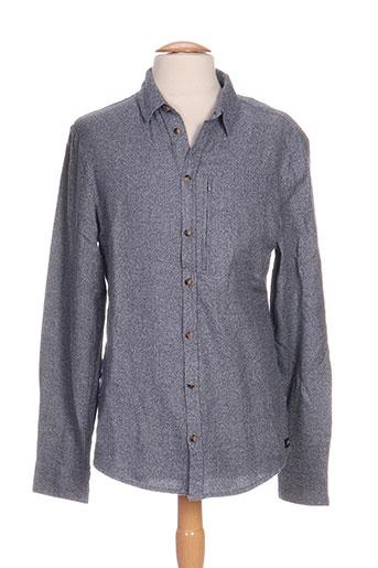 Chemise manches longues bleu GSUS pour homme